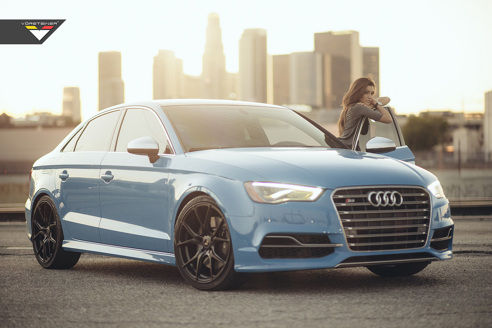 Riviera Blue Audi S3 With Black Vorsteiner Wheels Gtspirit