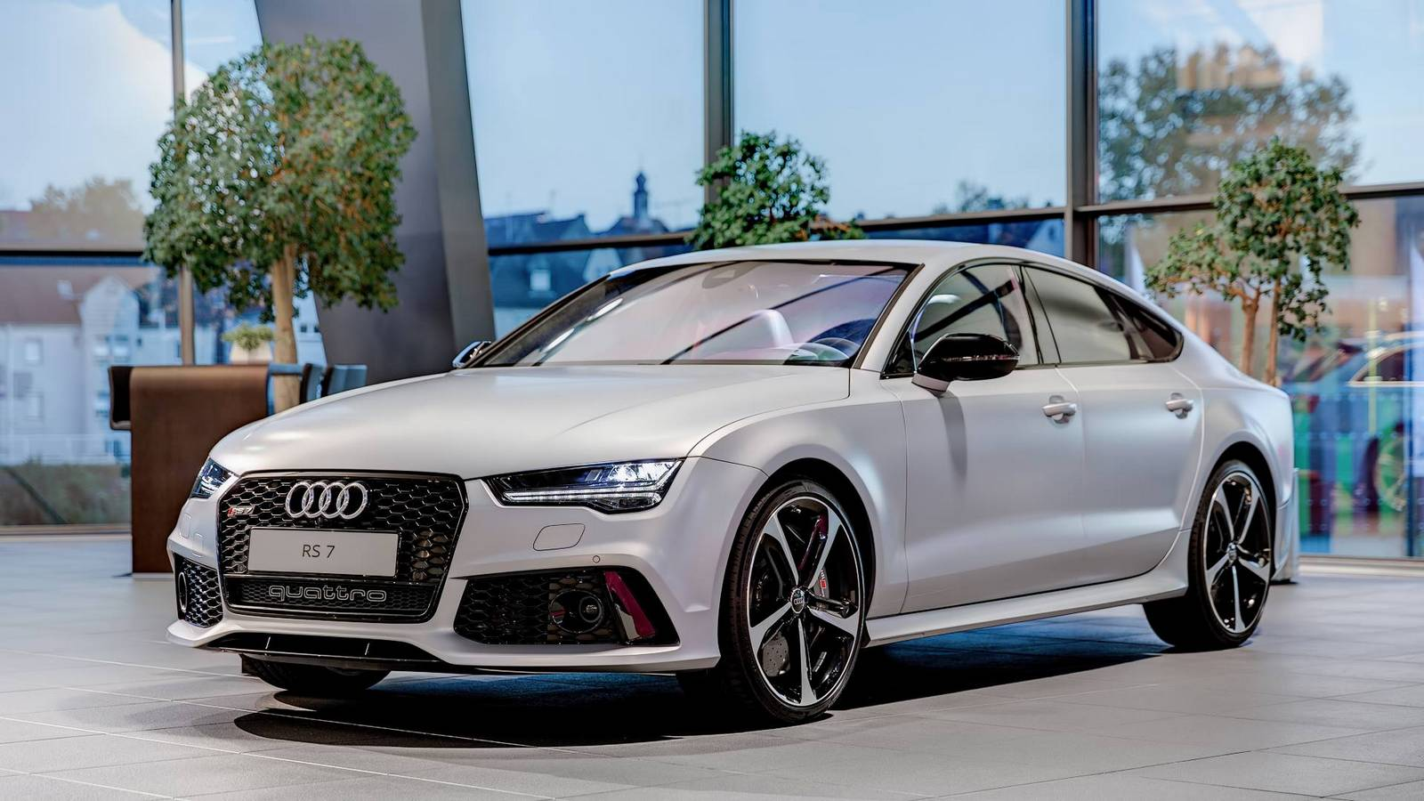 matte silver audi rs7 sportback by audi exclusive gtspirit rh gtspirit com Audi RS7 Black MPG Audi RS7