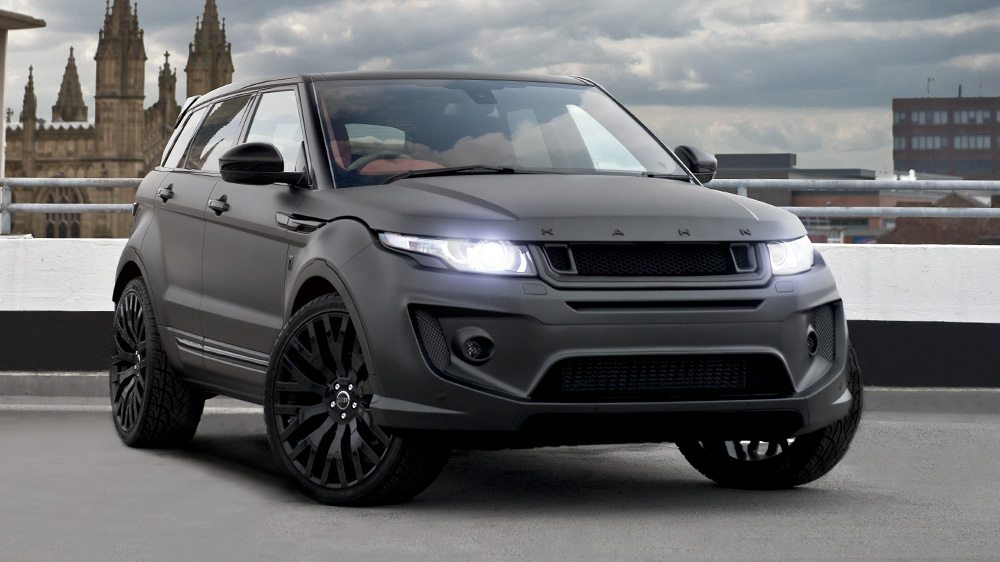 volcanic rock satin range rover evoque by kahn design gtspirit. Black Bedroom Furniture Sets. Home Design Ideas