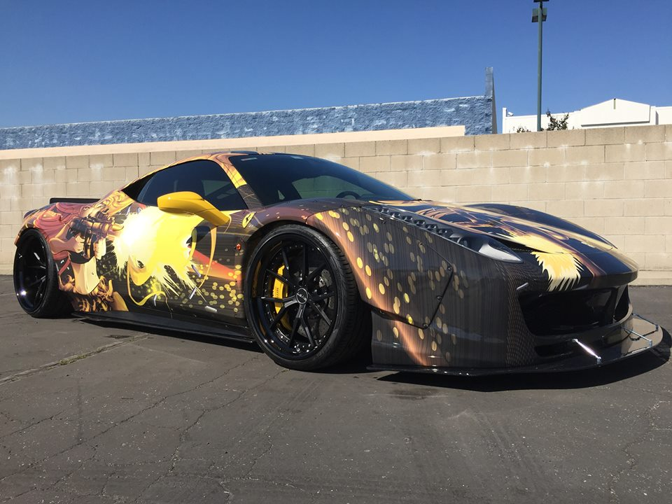 Team Anime Reveals Liberty Walk Ferrari 458 for Gumball 3000