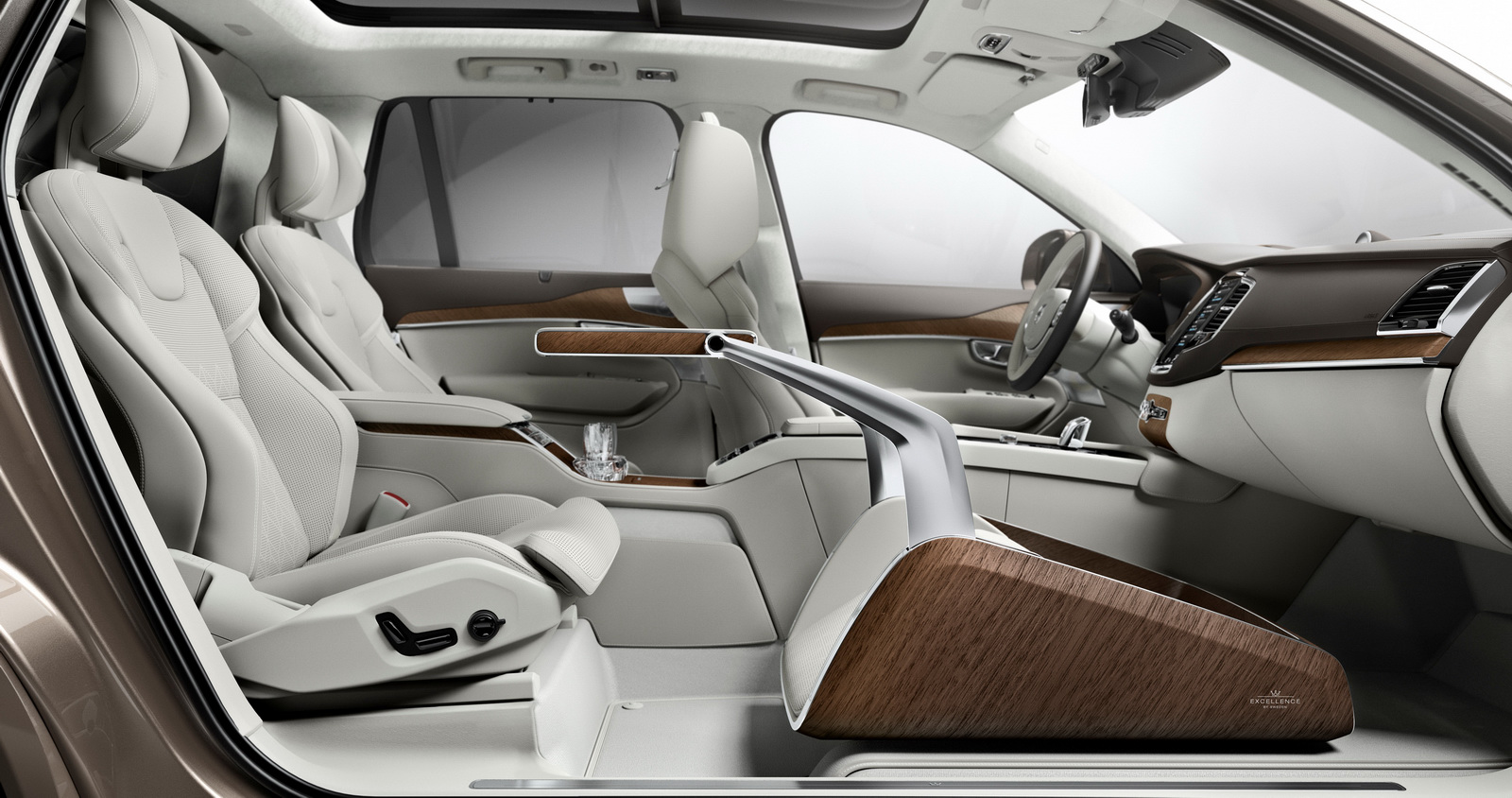 official volvo xc90 lounge console interior concept. Black Bedroom Furniture Sets. Home Design Ideas