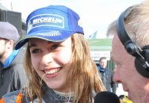 Sophia Floersch double Ginnetta Junior winner at 2015 Thruxton