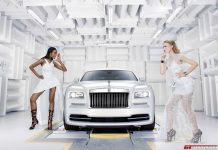 Rolls-Royce 'Wraith - Inspired by Fashion' models posing
