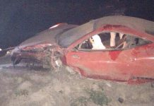Footballer Crashes New Ferrari 458 Italia in Chile