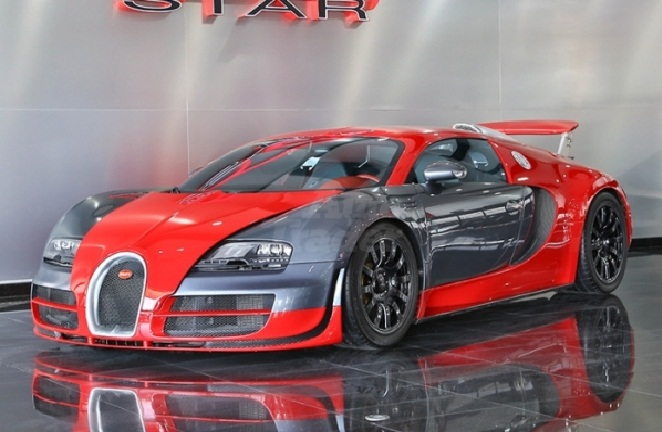 Red And Silver Bugatti Veyron Super Sport Sells In Dubai Gtspirit