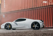 White Ferrari 458 Spider with Vellano Wheels