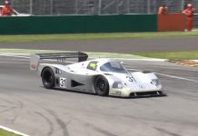 Mercedes C11 on track