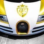 Goldrush rally 7 Bugatti Veyron Super Sport Pur Blanc Bonnet Wrap