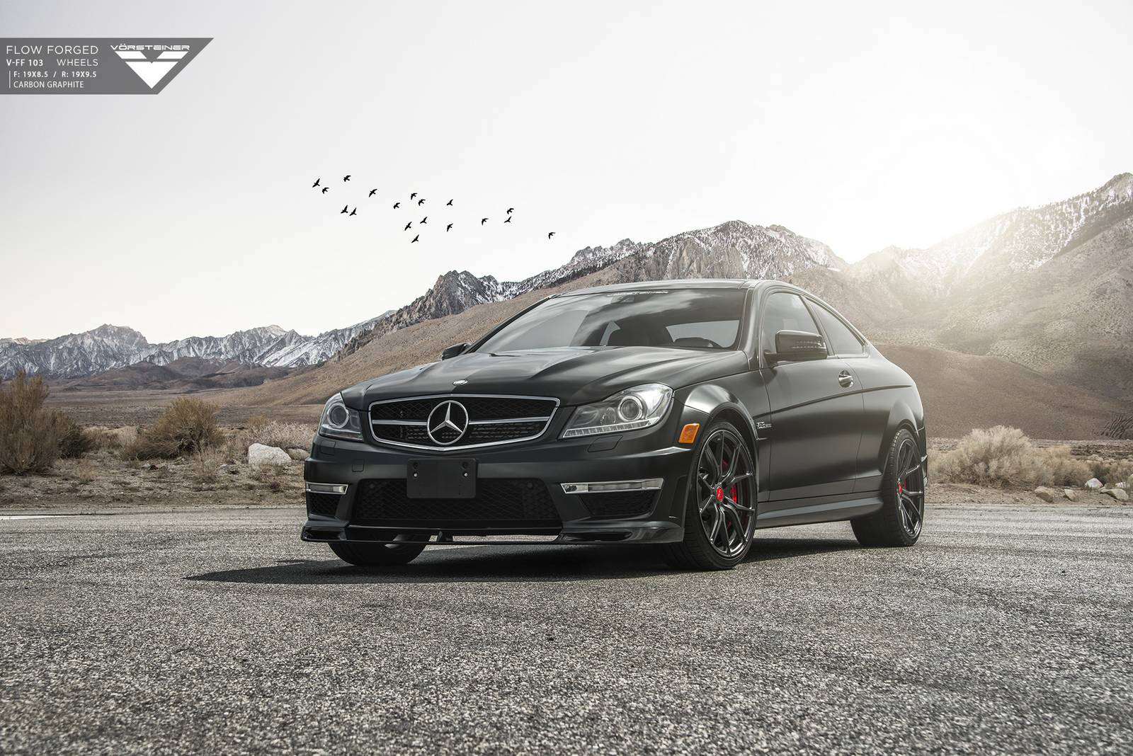 Matte black mercedes benz c63 amg by vorsteiner gtspirit for Mercedes benz c63 amg
