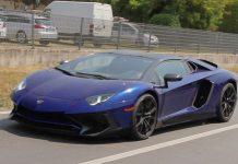 Lamborghini Aventador SV Spied front