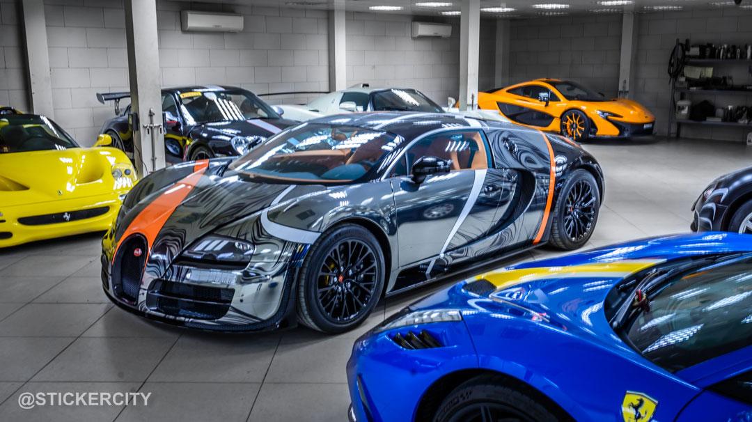 black chrome bugatti veyron super sportsticker city - gtspirit