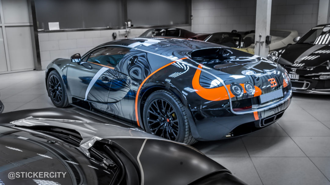 Black Chrome Bugatti Veyron Super Sport By Sticker City