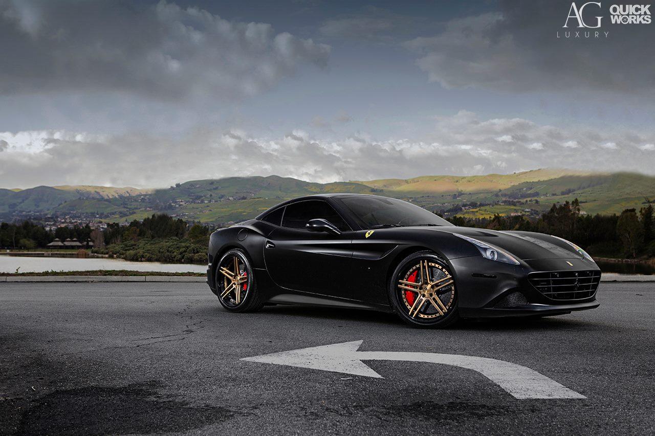 Stunning Black Ferrari California T With AG Luxury Wheels ...