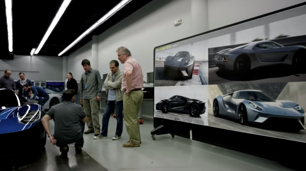 Video inside the 2016 ford gt 39 s secret design studio for Secret design