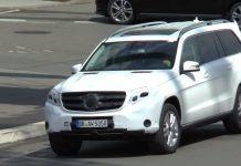 Mercedes-Benz GLS filmed with little camouflage