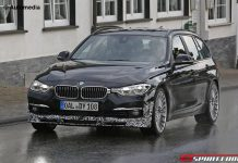 Facelifted Alpina D3 spy shot front