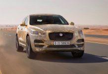 Jaguar F-Pace testing front