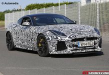 Jaguar F-Type SVR spy shots front