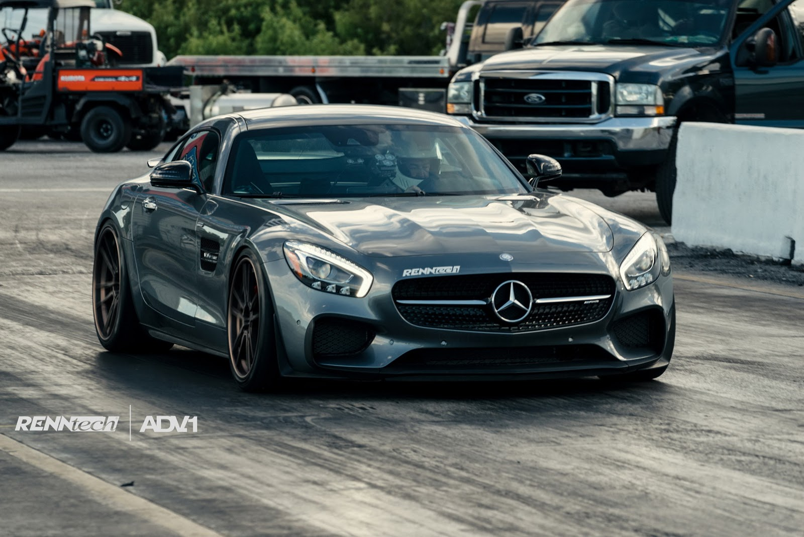 Renntech Mercedes-AMG GT S Poses at the Drag Strip - GTspirit