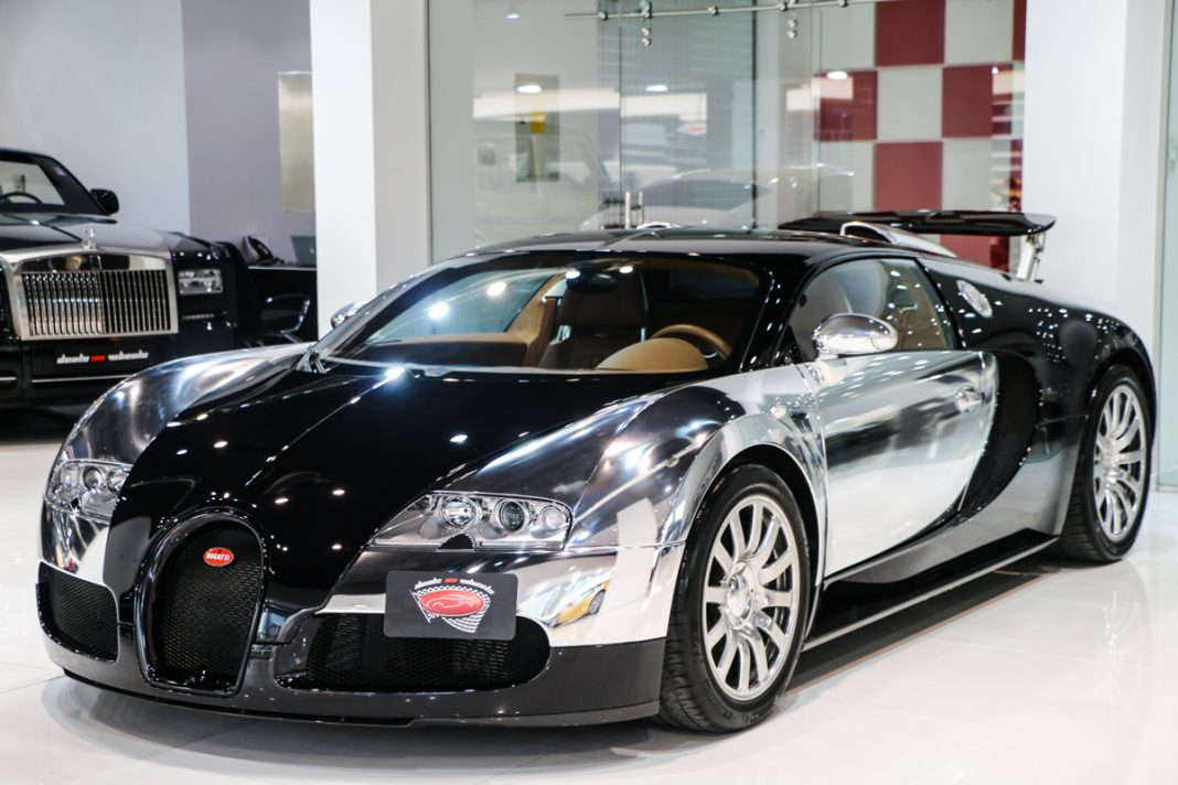 stunning chrome and black bugatti veyron for sale gtspirit. Black Bedroom Furniture Sets. Home Design Ideas