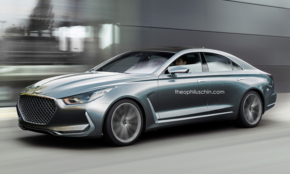 Hyundai Vision G Concept Rendered as CLS Rival - GTspirit