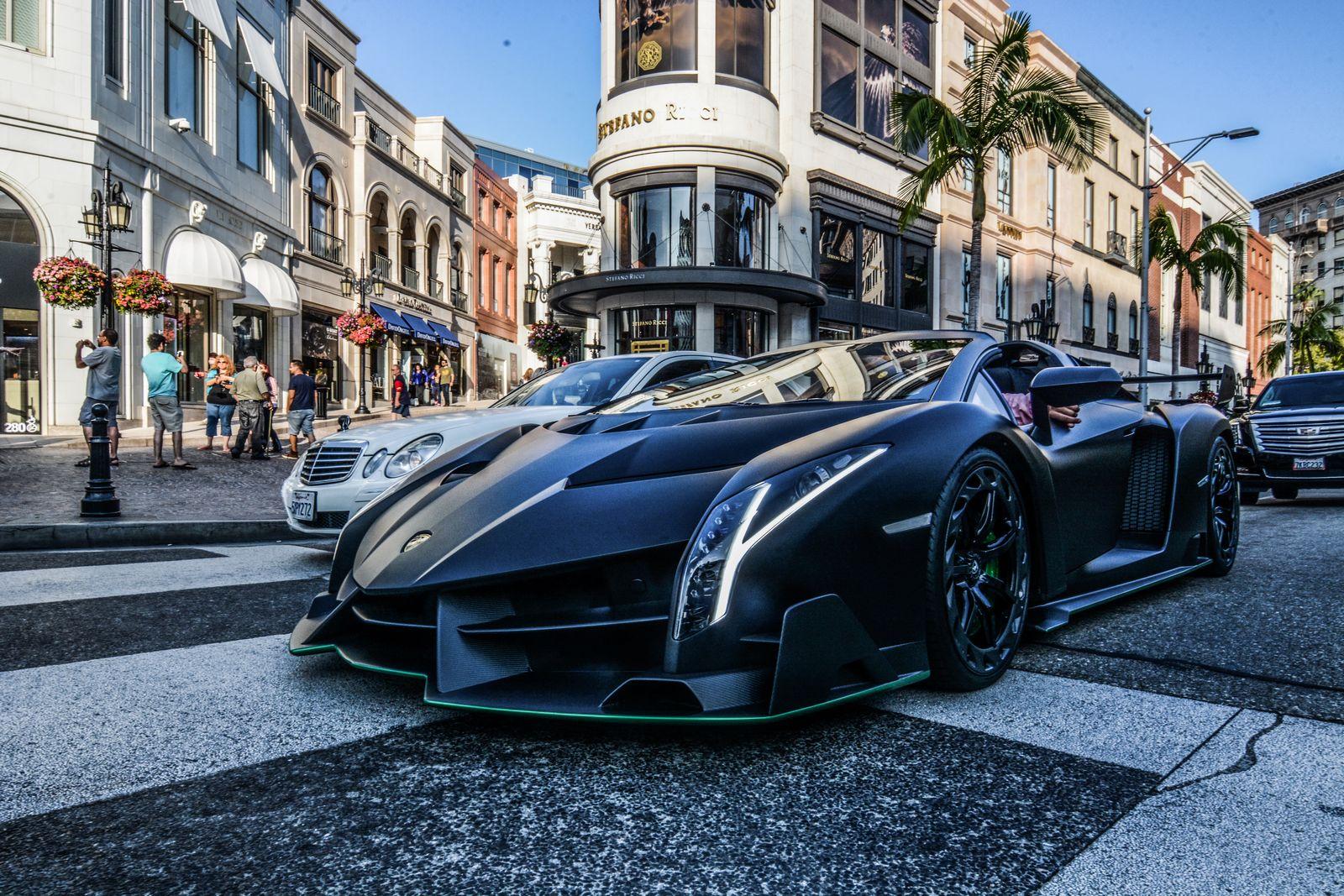 ... Lamborghini Veneno Roadster In Beverly Hills. Hypercars ...