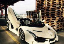 Lamborghini Veneno Roadster white front