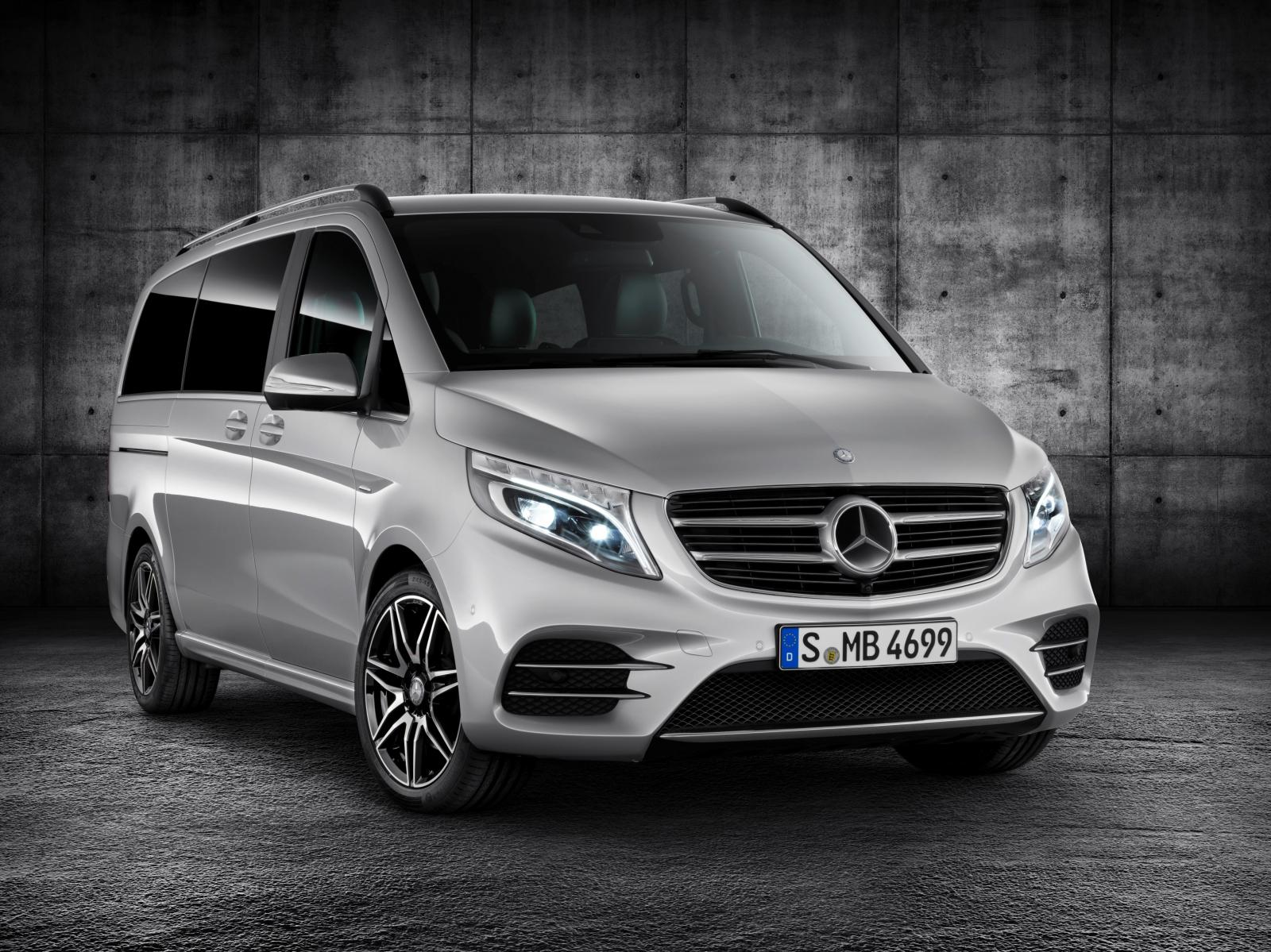 official 2016 mercedes benz v class amg line gtspirit. Black Bedroom Furniture Sets. Home Design Ideas