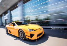 Orange Lexus LFA Nurburgring Edition