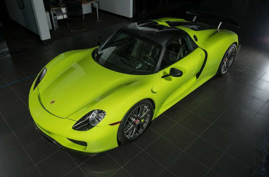 3 Million Acid Green Porsche 918 Spyder For Sale Gtspirit