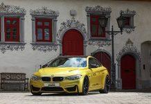 Austin Yellow BMW M4 with BBS Wheels