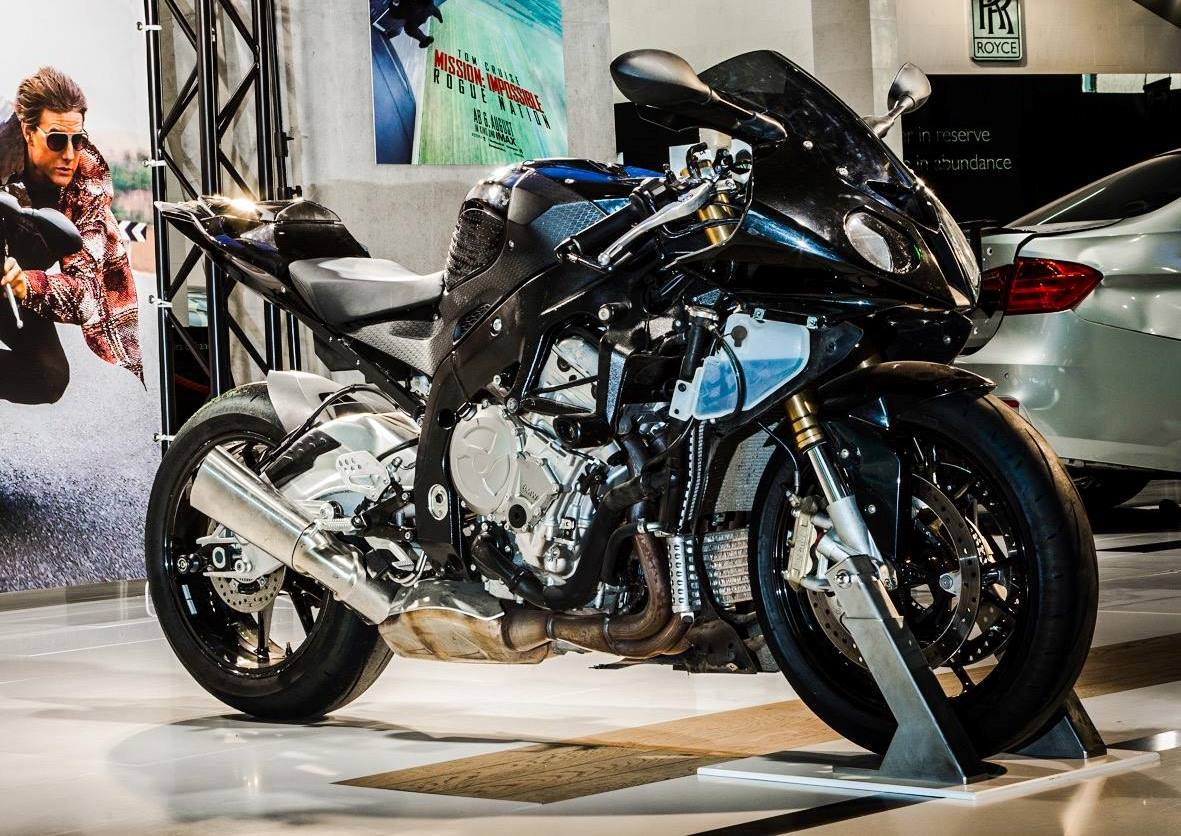 bmw m3 and s1000rr from mission impossible 5 rested at bmw museum