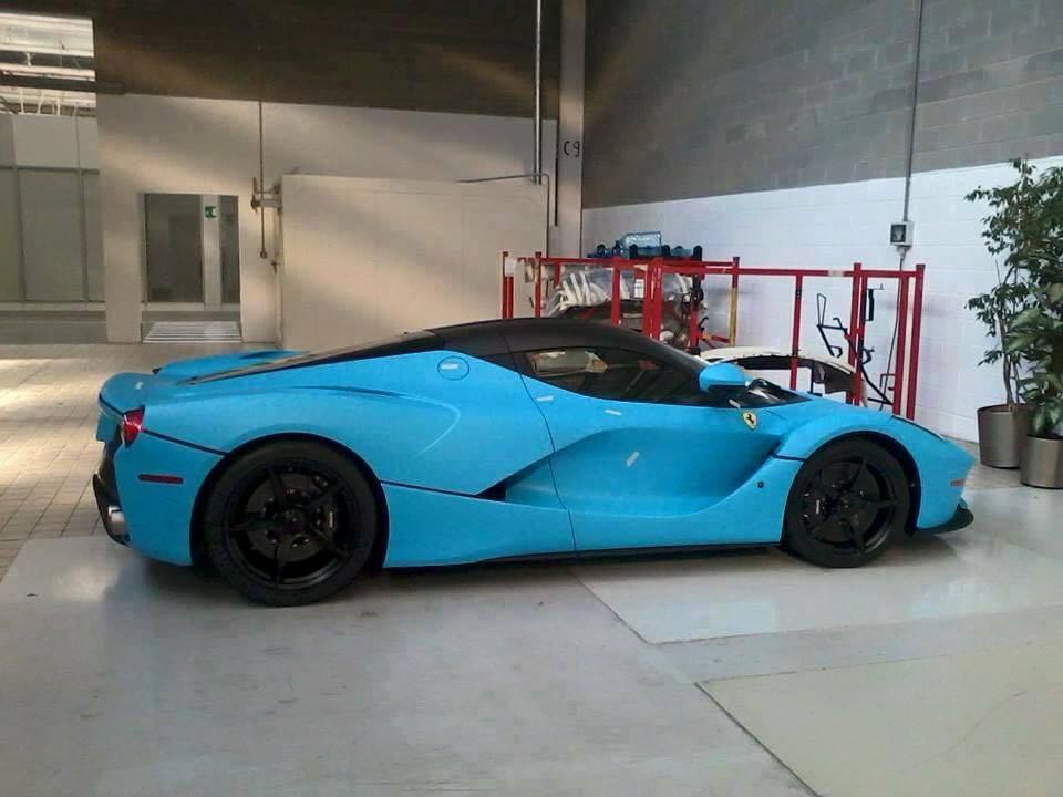 First Baby Blue Ferrari Laferrari Emerges Gtspirit