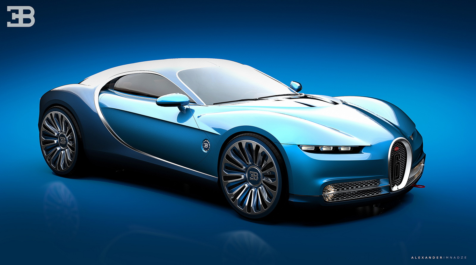 Bugatti Vision Gran Turismo Rendered as a Sleek New Coupe