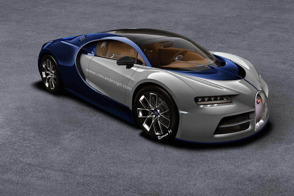 bugatti chiron rendered based on vision gt gtspirit. Black Bedroom Furniture Sets. Home Design Ideas