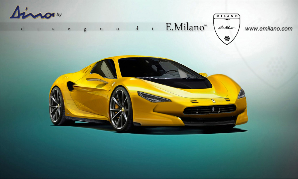 New Ferrari Dino Sports Car Rendered