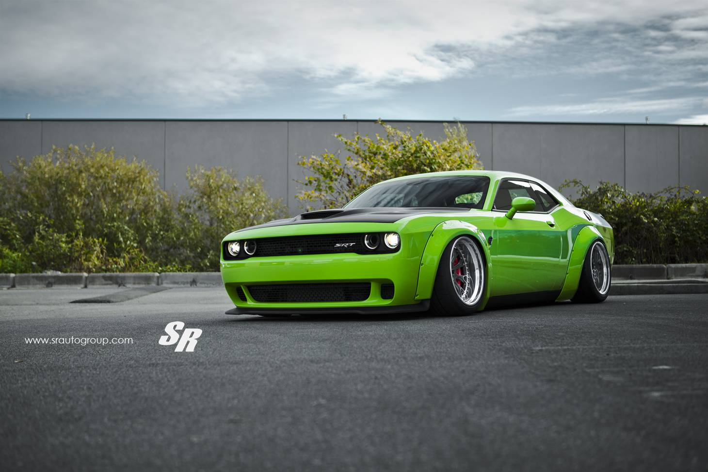 Green Dodge Challenger Srt Hellcat With Liberty Walk Kit Gtspirit