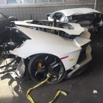 Lamborghini Aventador split into two