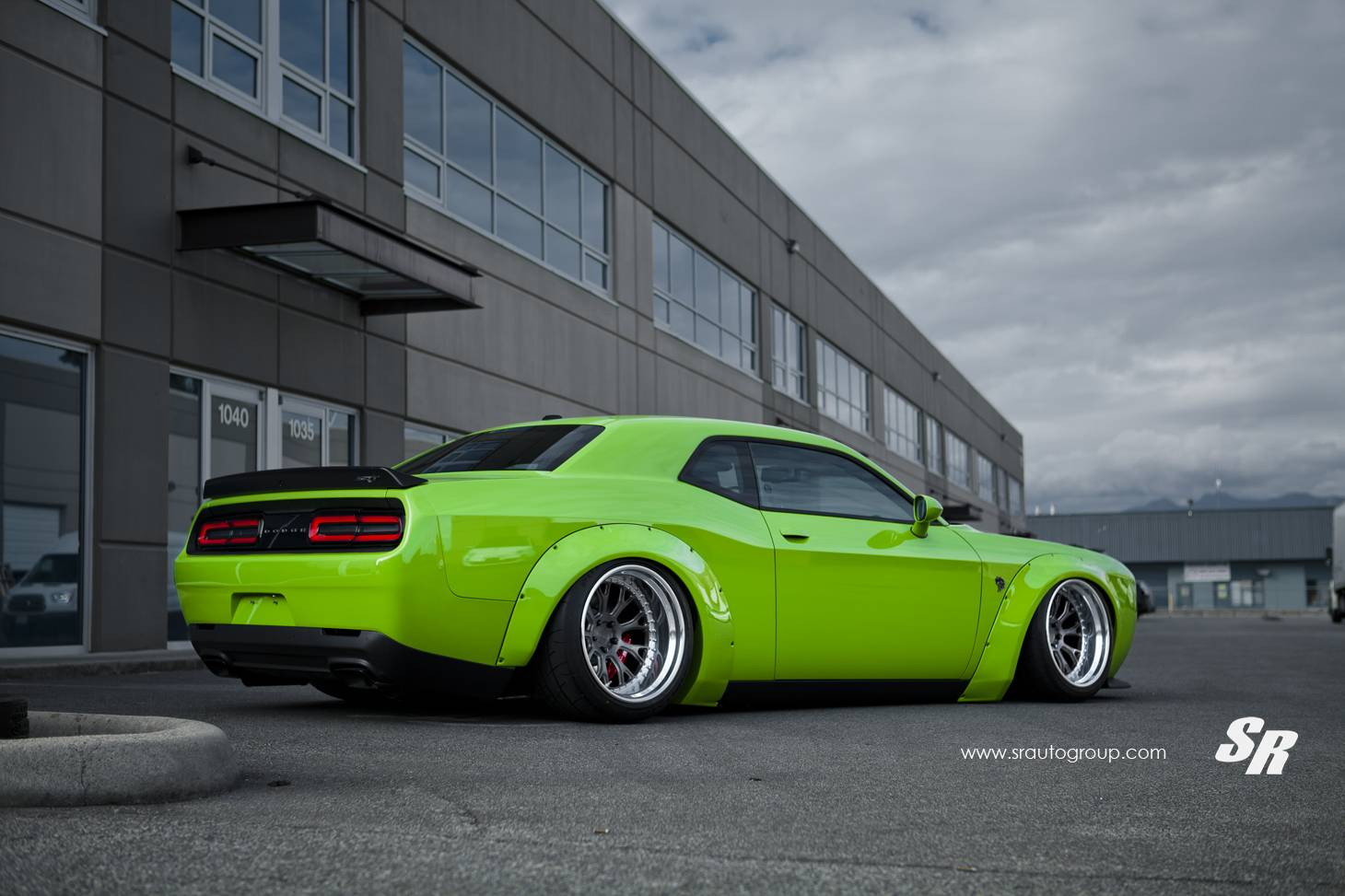 Liberty Auto Sales >> Green Dodge Challenger SRT Hellcat with Liberty Walk Kit - GTspirit