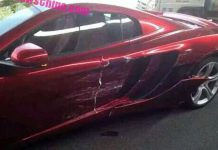 McLaren 12C crashes in China