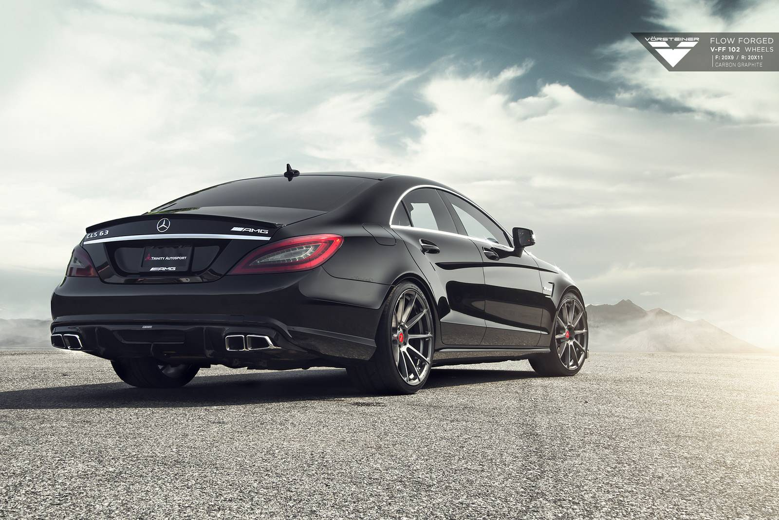 mercedes benz cls63 amg stuns on vorsteiner wheels gtspirit. Black Bedroom Furniture Sets. Home Design Ideas