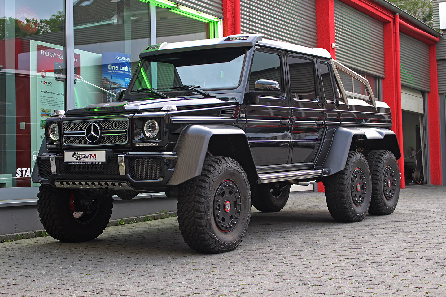 Black mercedes benz g63 amg 6x6 for sale gtspirit for Mercedes benz amg 6x6 price