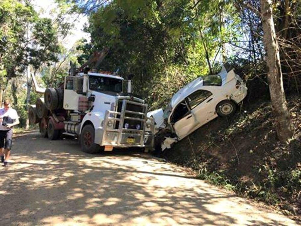 mads ostberg escapes scary head on crash at rally australia gtspirit. Black Bedroom Furniture Sets. Home Design Ideas