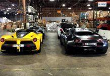 Yellow LaFerrari and Bugatti Veyron Super Sport