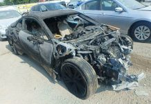 Burnt BMW i8 for sale