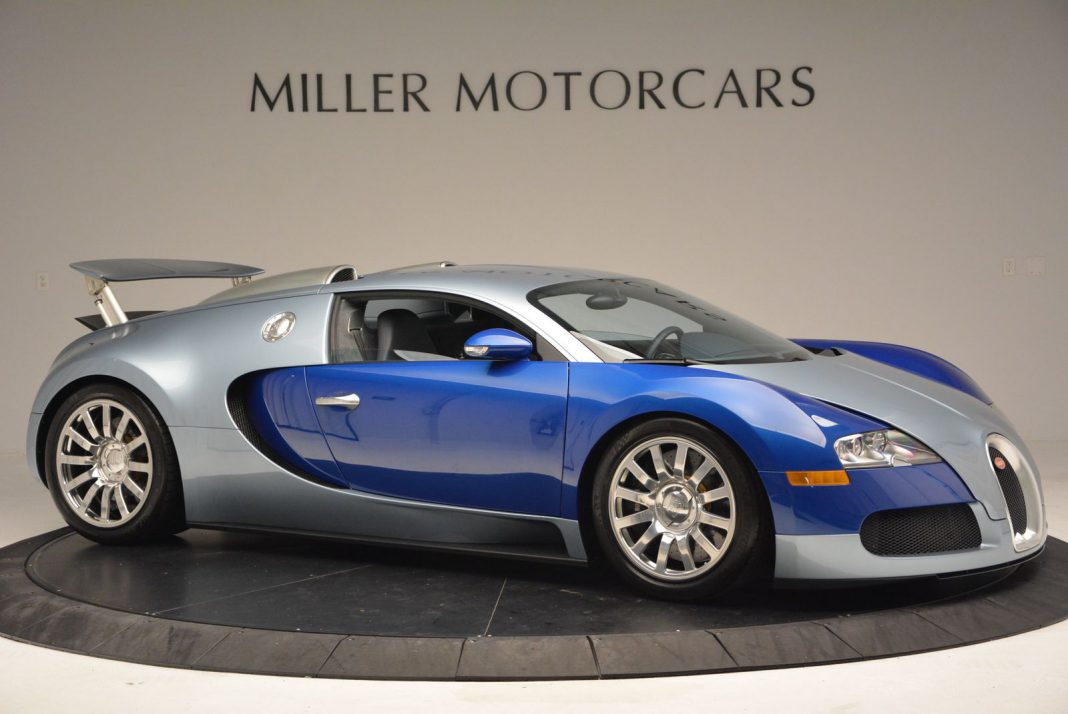 blue and silver 2008 bugatti veyron for sale gtspirit. Black Bedroom Furniture Sets. Home Design Ideas