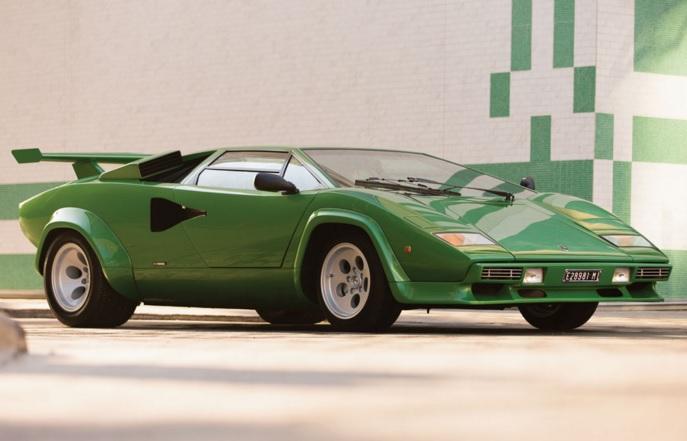 Bright Green Lamborghini Countach Heading To Auction