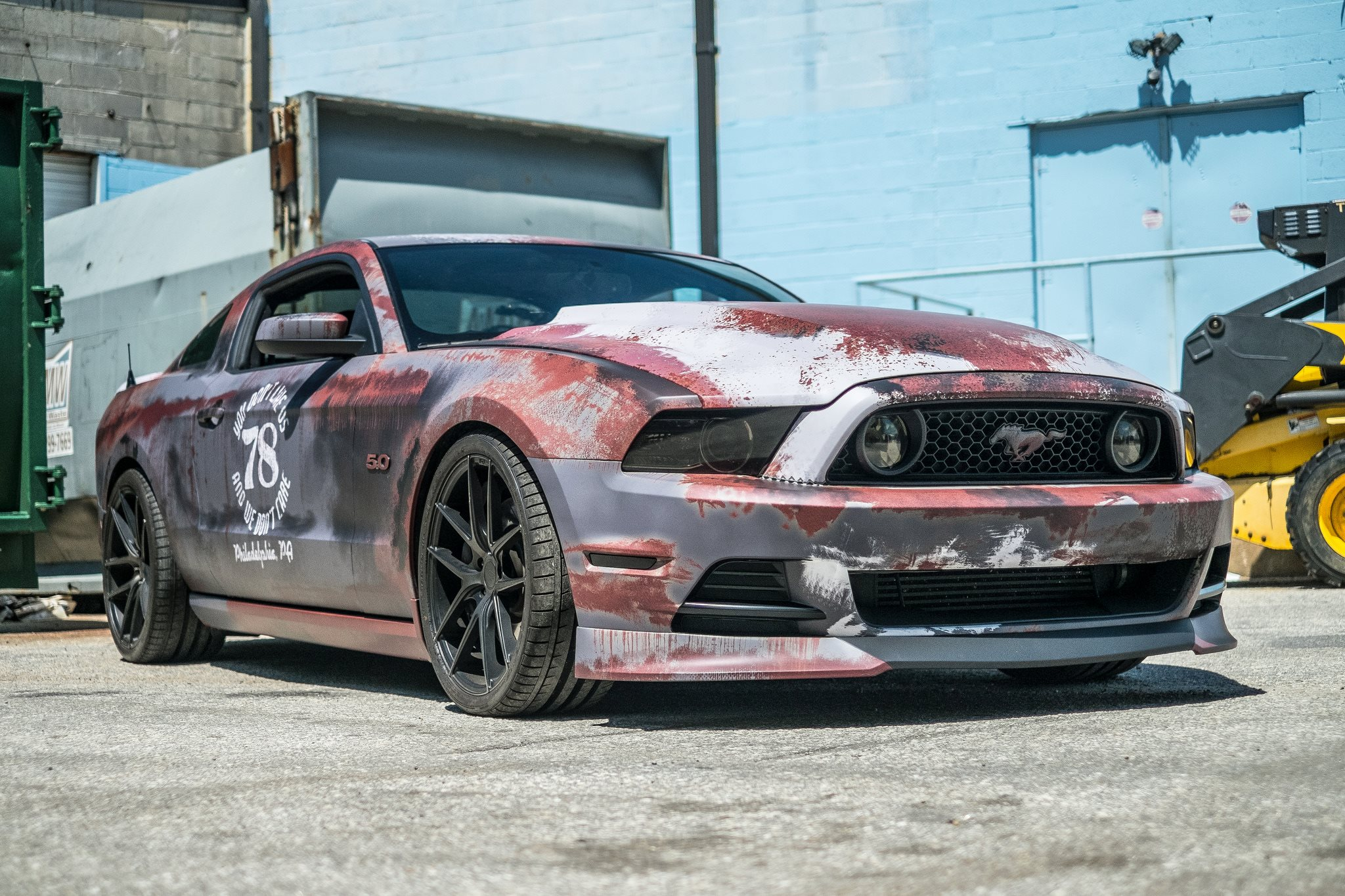 Crazy Rust Wrapped Ford Mustang in Maryland - GTspirit