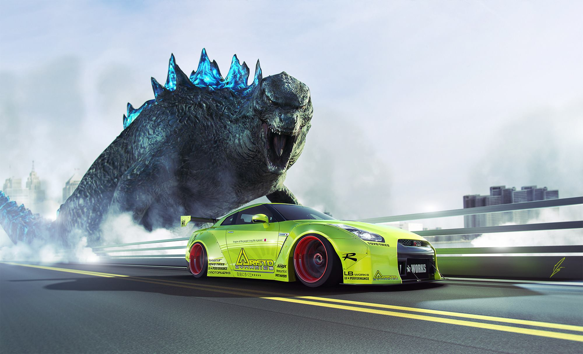 Image result for godzilla gtr