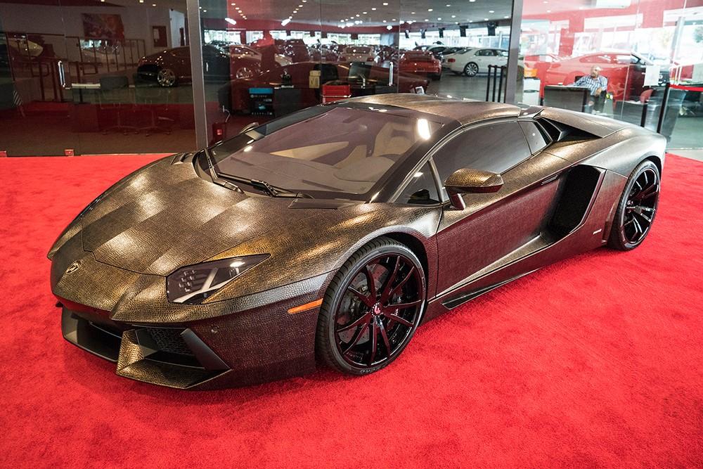 Crazy Snake Skin Wrapped Lamborghini Aventador Gtspirit